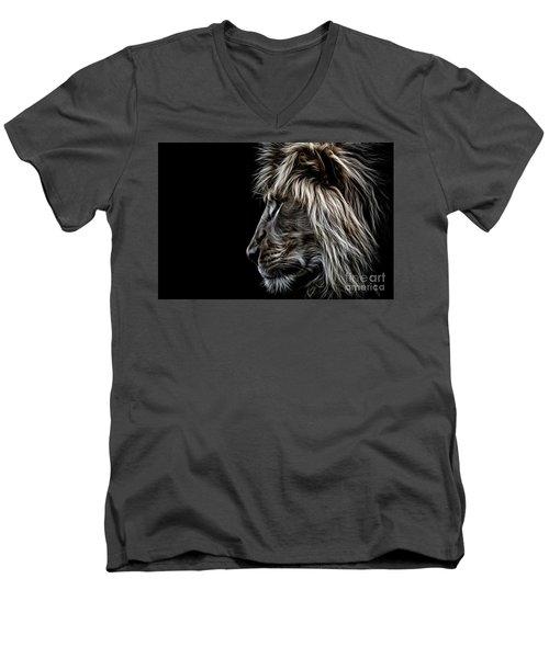 Profile Of A King Men's V-Neck T-Shirt