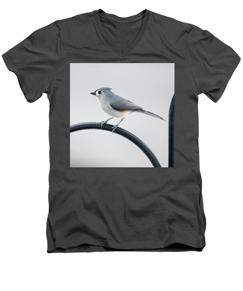 Profile Of A Tufted Titmouse Men's V-Neck T-Shirt