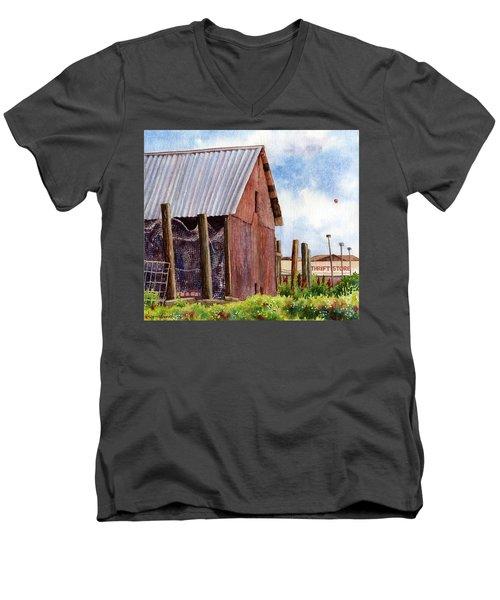 Progression Men's V-Neck T-Shirt by Anne Gifford