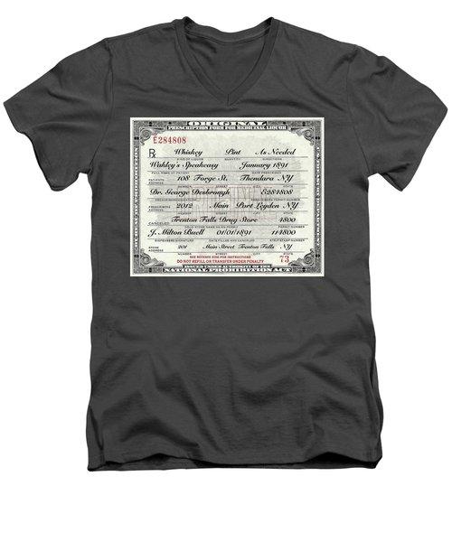 Prohibition Prescription Certificate Speakeasy Men's V-Neck T-Shirt