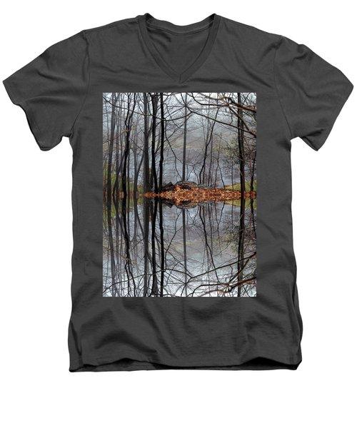 Projecting Contentment Men's V-Neck T-Shirt