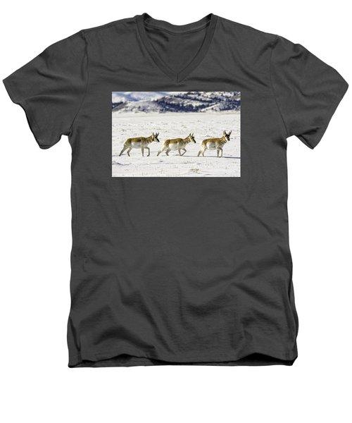 Pronghorns Men's V-Neck T-Shirt