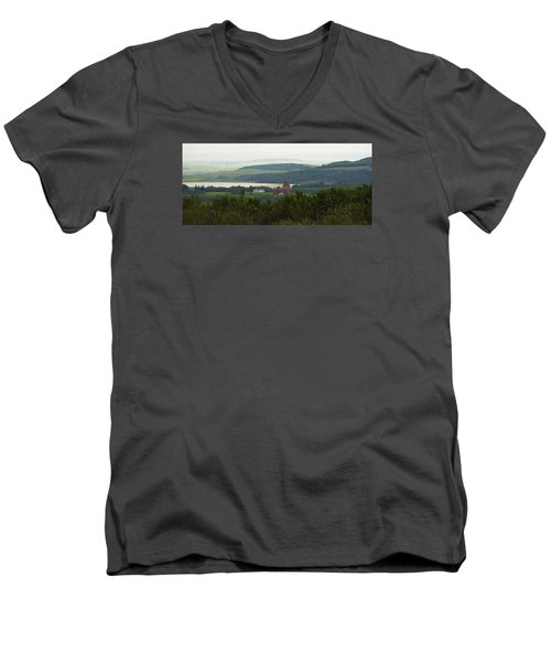 Prongy Hill Men's V-Neck T-Shirt by Ellery Russell