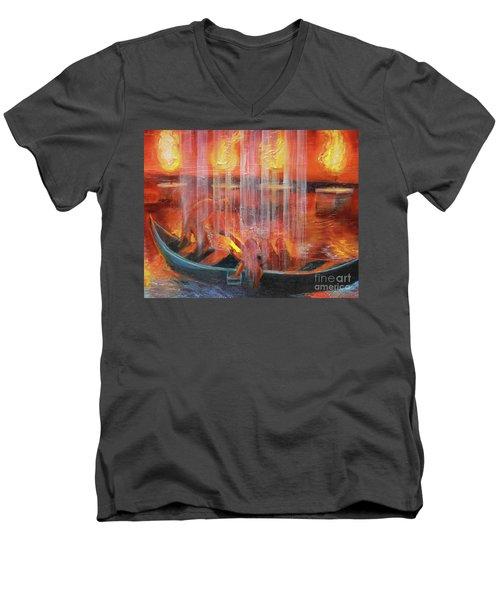 Prophetic Message Sketch 45 Detail Of Boat Men's V-Neck T-Shirt