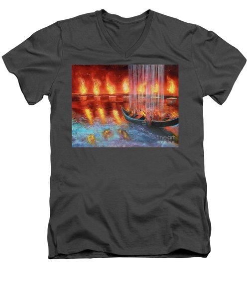 Prophetic Message Sketch 45 Preparing For The Day Men's V-Neck T-Shirt