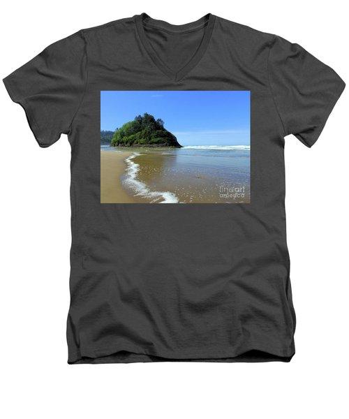 Proposal Rock Coastline Men's V-Neck T-Shirt