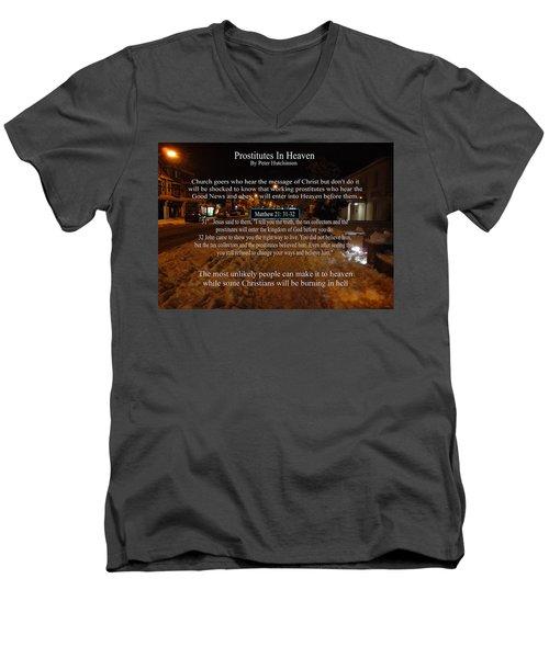 Prostitutes In Heaven Men's V-Neck T-Shirt