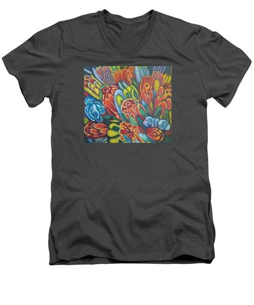 Proteas At Noon 2015 Men's V-Neck T-Shirt