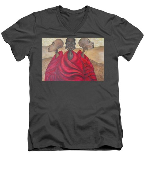 Protectors Men's V-Neck T-Shirt by Jenny Pickens