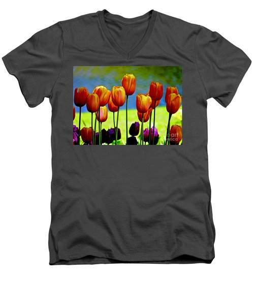 Proud Tulips Men's V-Neck T-Shirt