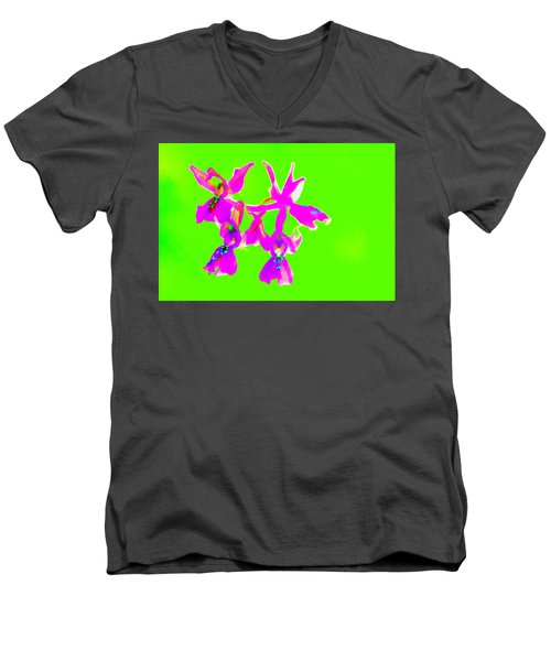 Green Provence Orchid  Men's V-Neck T-Shirt