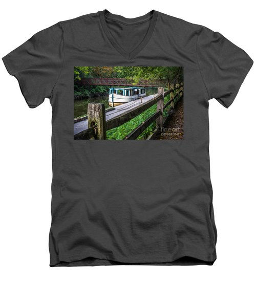 Providence Metropark Erie Canal  Men's V-Neck T-Shirt