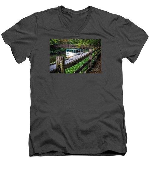 Providence Metropark Erie Canal  Men's V-Neck T-Shirt