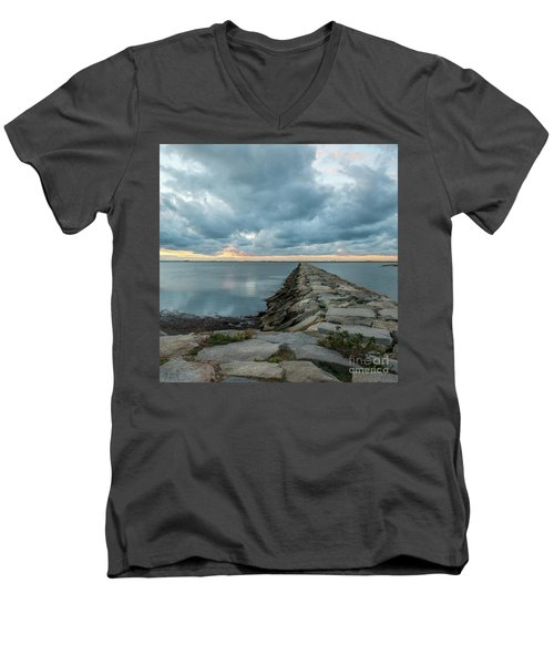 Provincetown Breakwater #3 Men's V-Neck T-Shirt