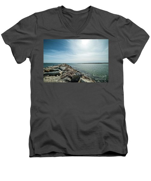 Provincetown Breakwater Men's V-Neck T-Shirt