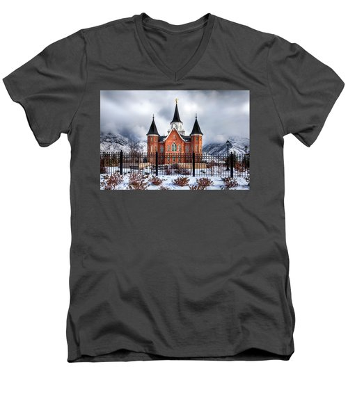 Provo City Center Temple Lds Large Canvas Art, Canvas Print, Large Art, Large Wall Decor, Home Decor Men's V-Neck T-Shirt