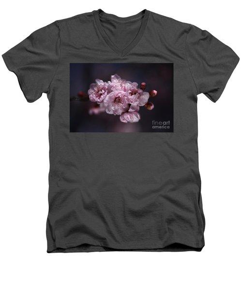Prunus A Pink Spring Men's V-Neck T-Shirt