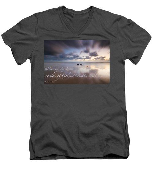 Psalm 19 1 Men's V-Neck T-Shirt