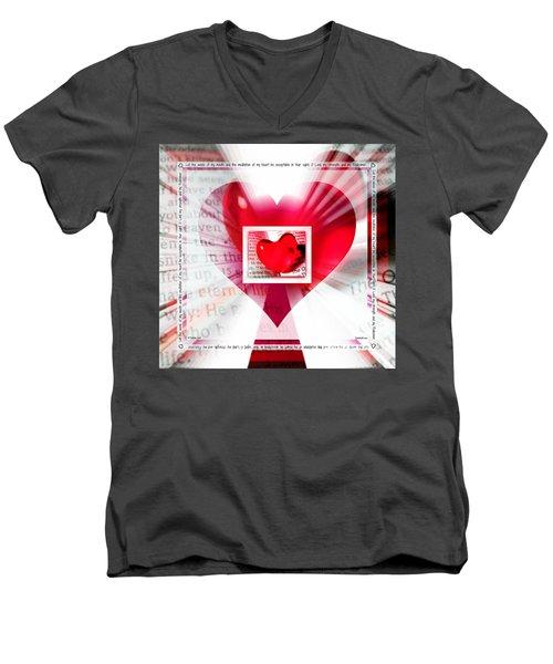 Psalm 19 Meditating Men's V-Neck T-Shirt