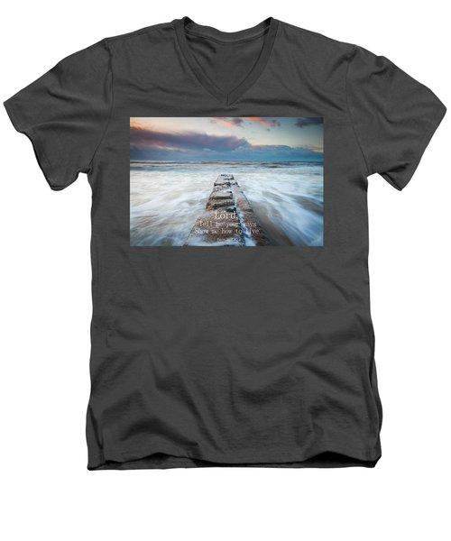 Psalm 25 4 Men's V-Neck T-Shirt