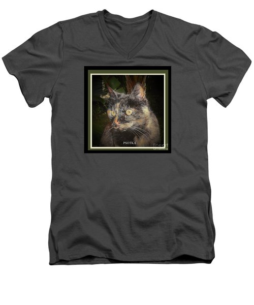 Men's V-Neck T-Shirt featuring the photograph Psotka by Andrew Drozdowicz