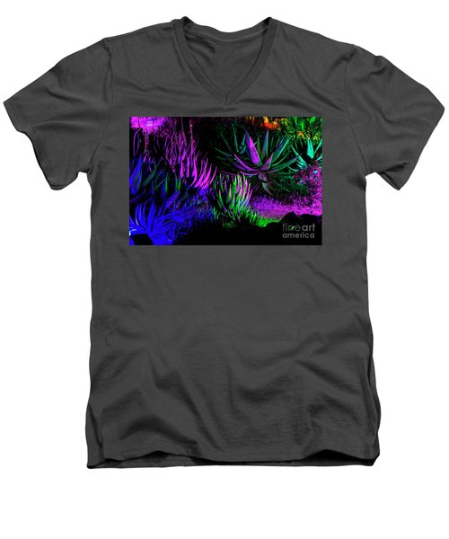 Psychedelia Men's V-Neck T-Shirt by Kathy McClure