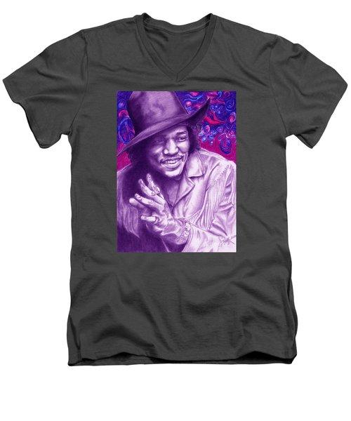 Psychedelic Jimi Men's V-Neck T-Shirt