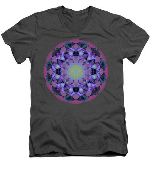 Psychedelic Mandala 006 A Men's V-Neck T-Shirt by Larry Capra