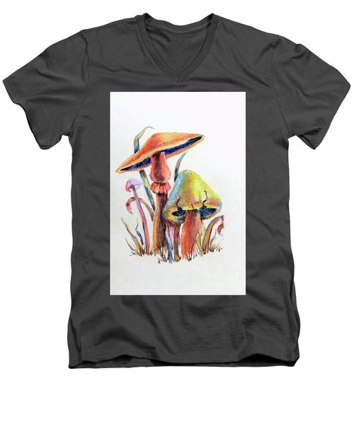 Psychedelic Mushrooms Men's V-Neck T-Shirt