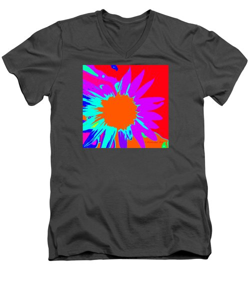 Psychedelic Sunflower Men's V-Neck T-Shirt