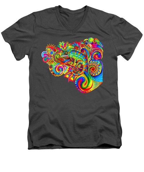 Psychedelizard Men's V-Neck T-Shirt
