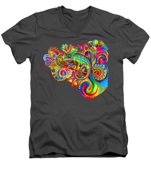 Psychedelizard Men's V-Neck T-Shirt