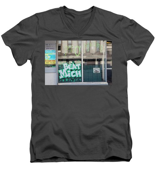 Pt O'maleys Beat Mich Men's V-Neck T-Shirt