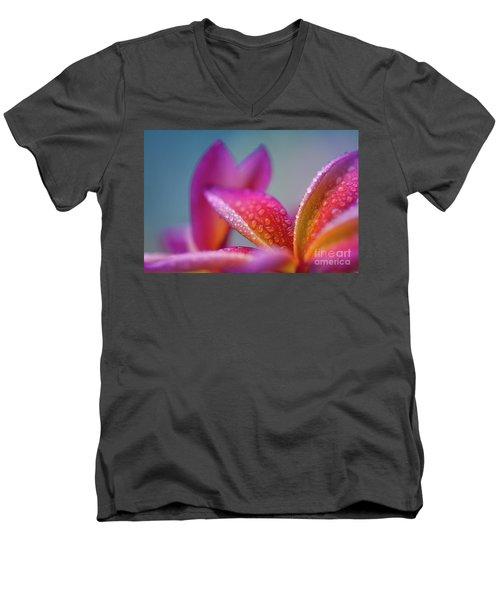 Men's V-Neck T-Shirt featuring the photograph Pua Melia Ke Aloha Hawaii  by Sharon Mau