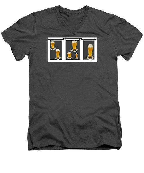 Pub Art Two Men's V-Neck T-Shirt by Tina M Wenger