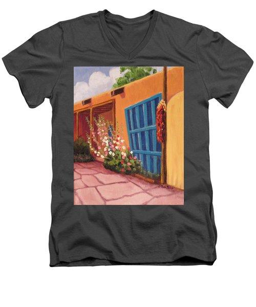 Puerta Azul En Taos Men's V-Neck T-Shirt