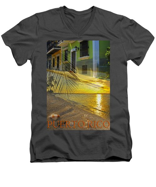 Puerto Rico Collage 3 Men's V-Neck T-Shirt