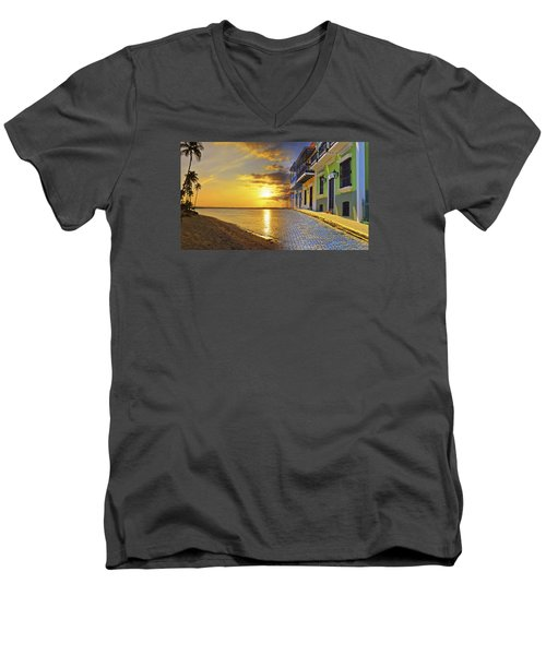 Puerto Rico Montage 1 Men's V-Neck T-Shirt by Stephen Anderson