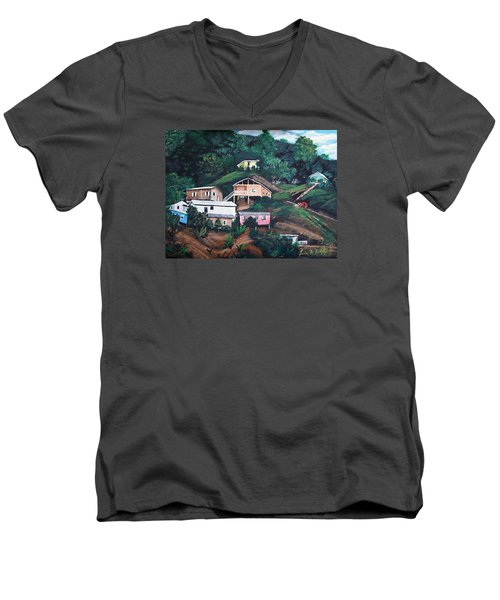 Puerto Rico Mountain View Men's V-Neck T-Shirt by Luis F Rodriguez