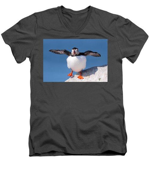 Puffin Dance Men's V-Neck T-Shirt