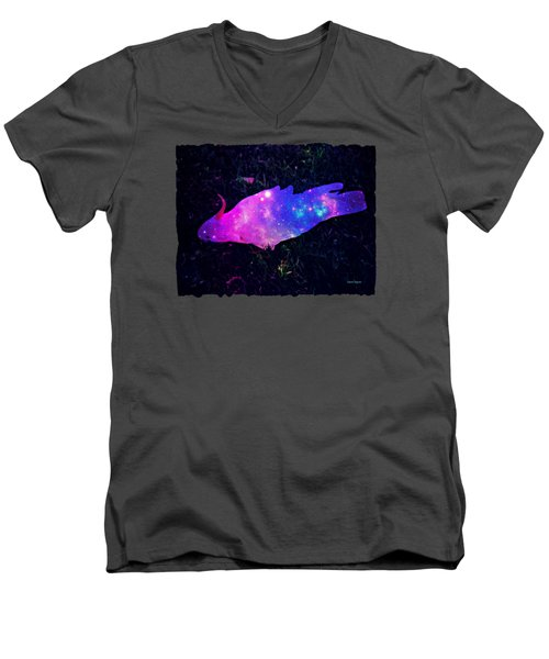 Pulling Weeds In Time And Space Men's V-Neck T-Shirt