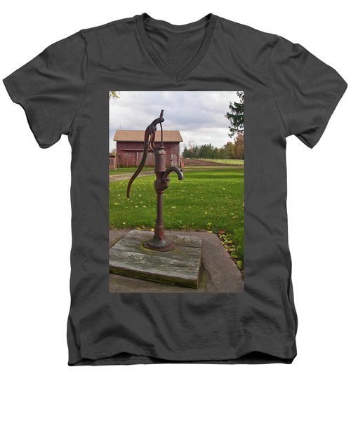 Men's V-Neck T-Shirt featuring the photograph Pump 13951 by Guy Whiteley