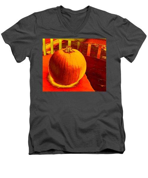 Pumpkin #4 Men's V-Neck T-Shirt