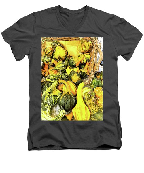 Pumpkin Family Men's V-Neck T-Shirt