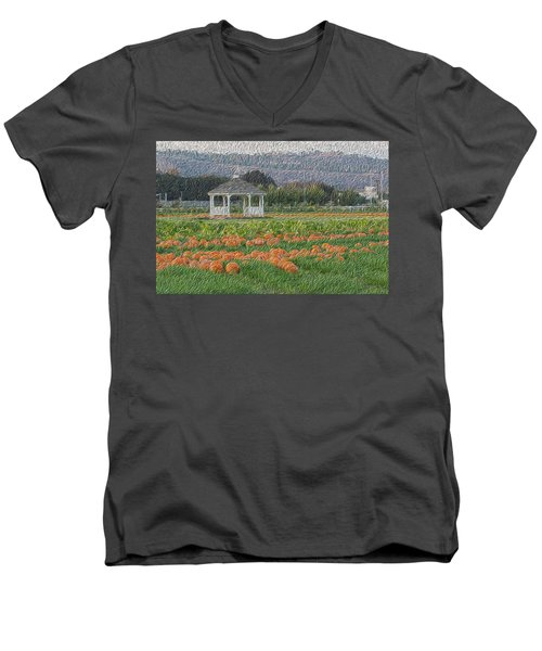 Pumpkin Field Men's V-Neck T-Shirt