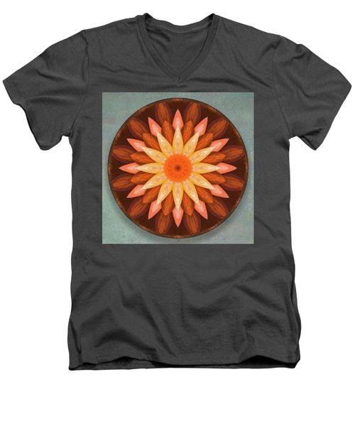 Pumpkin Mandala -  Men's V-Neck T-Shirt