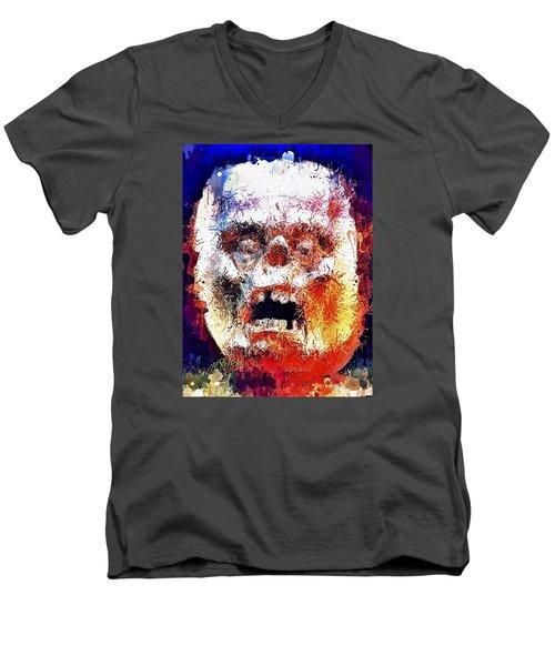 Pumpkin Scream Men's V-Neck T-Shirt
