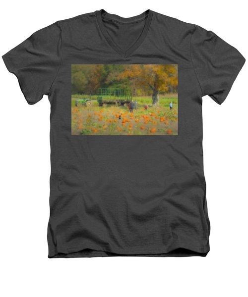 Pumpkins At Langwater Farm Men's V-Neck T-Shirt