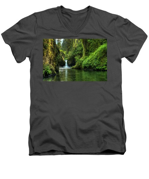 Punch Bowl Falls Men's V-Neck T-Shirt
