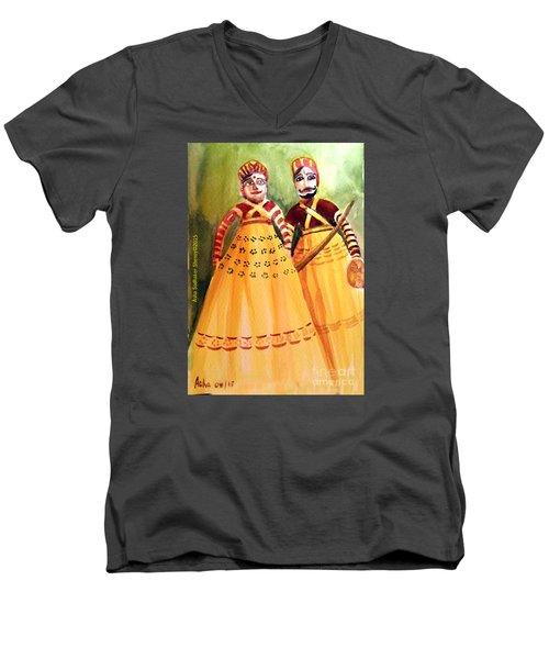 Puppets Of India Men's V-Neck T-Shirt